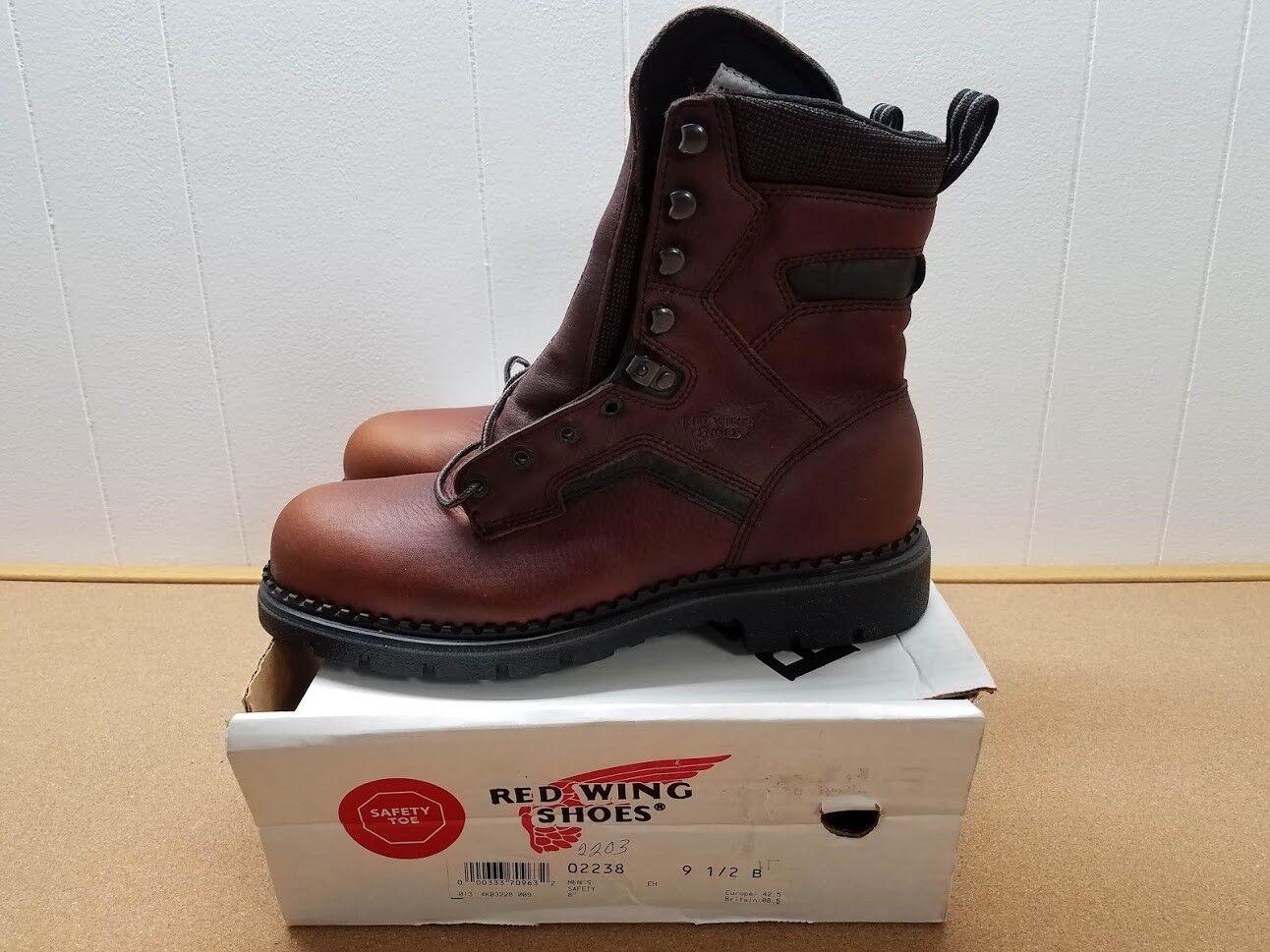 Para hombres Cuero Marrón Rojo WING 2238 botas  2 B Hecho en EE. UU.