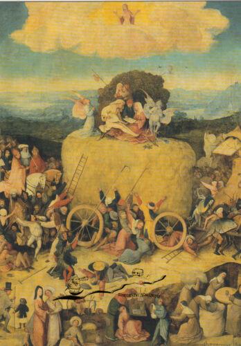 Kunstkarte Heuwagen Bosch