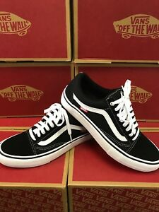 c4eb27d77e7 Image is loading Vans-Old-Skool-Pro-Shoes-mens-Black-White-