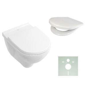 villeroy boch o novo wand wc sp lrandlos wahlweise mit sitz tiefsp ler 5660r0 ebay. Black Bedroom Furniture Sets. Home Design Ideas