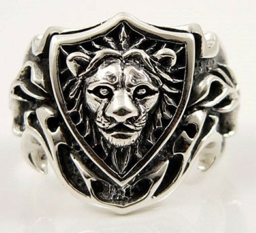 KING LEO LION KNIGHT 925 STERLING SILVER RING MENS NEW GOTHIC BIKER ROCKER PUNK