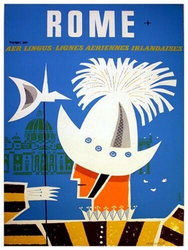 "Rome Art Vintage Travel Poster Print 12x16/"" Rare Hot New XR291"