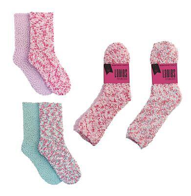 100% QualitäT Ladies 2 Pack Popcorn Slipper Socks Womens 2 Pairs Soft Comfy Bed Socks Size Warm Und Winddicht