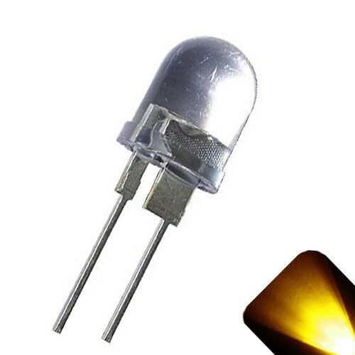5 x LED 10mm Yellow Gold .5 Watt Super Bright High Power LEDs 0.5w half 1//2 RC