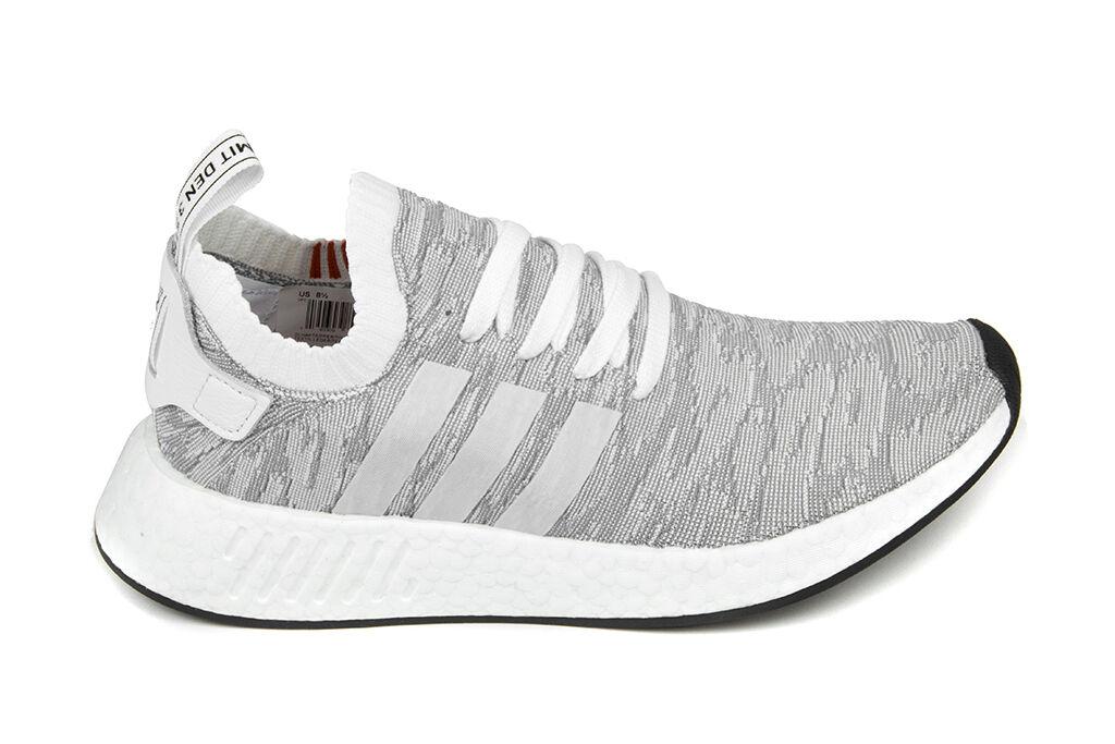 Adidas Originals NMD_R2 Primeknit Primeknit Primeknit in Flat bianca Flat bianca Core nero BY9410 dafed5