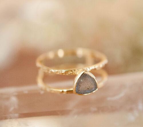 Details about  /10k solid Gold ring labradorite ring stacking ring gem stone ring fine DER305