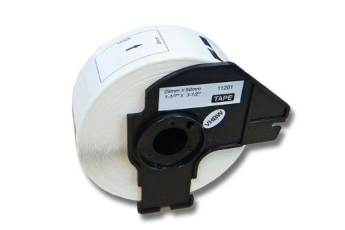 vhbw® 400 DRUCKER ETIKETTEN 29x90mm WASSERFEST für BROTHER P-touch DK-11201