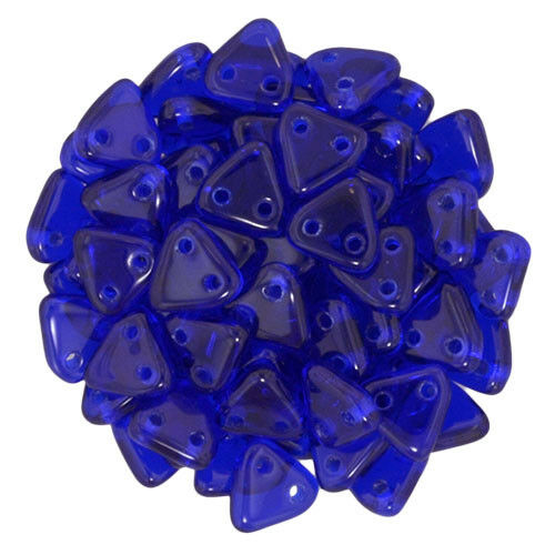 10 grams CzechMate Triangle Beads Czech Glass Two Holes Beads Pick your colour