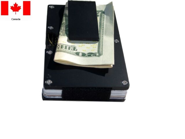 Slim RFID minimalist Credit Card Holder Stainless steel Wallet with Money Clip