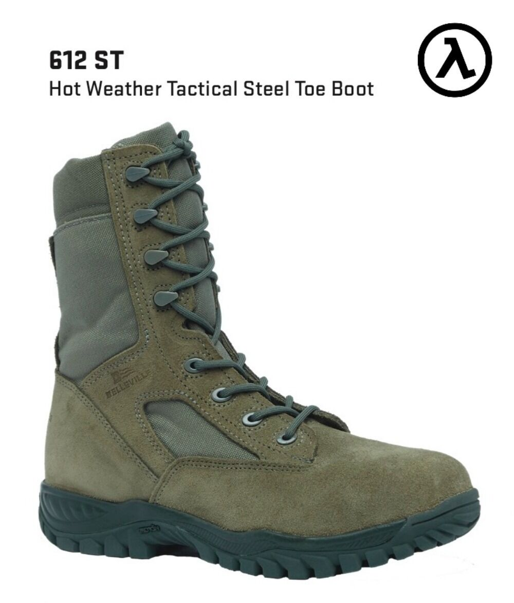 BELLEVILLE 612 ST HOT WEATHER TACTICAL - STEEL TOE BOOTS * ALL SIZES - TACTICAL NEW d83cbc
