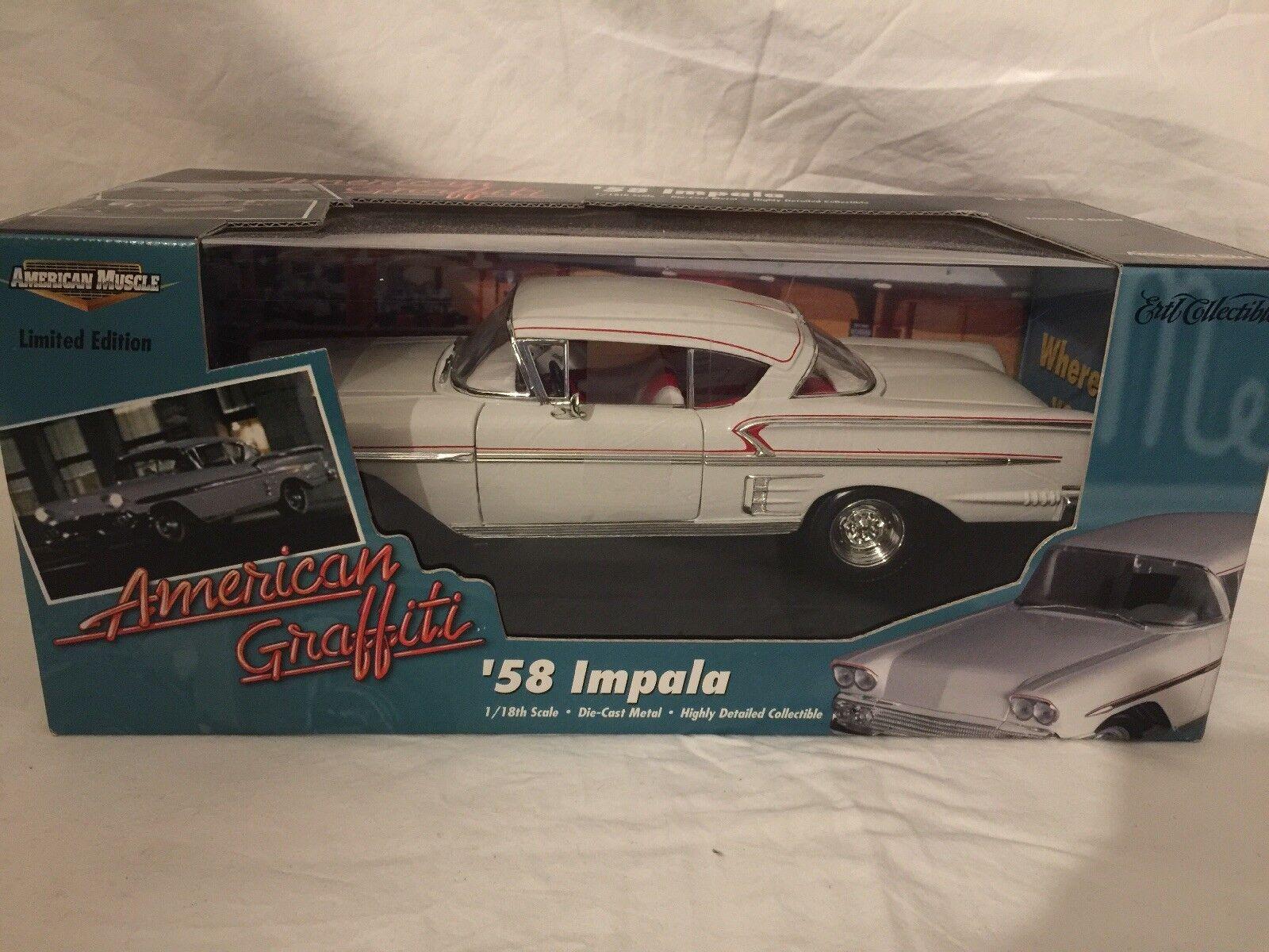 American Muscle 1958 Chevy Impala American Graffiti 1:18 Escala Modelo 58 coche