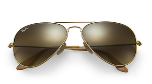 4a2ec01d18 New Ray Ban Aviator RB 3025 112/85 Gold w/Brown Gradient lenses size ...