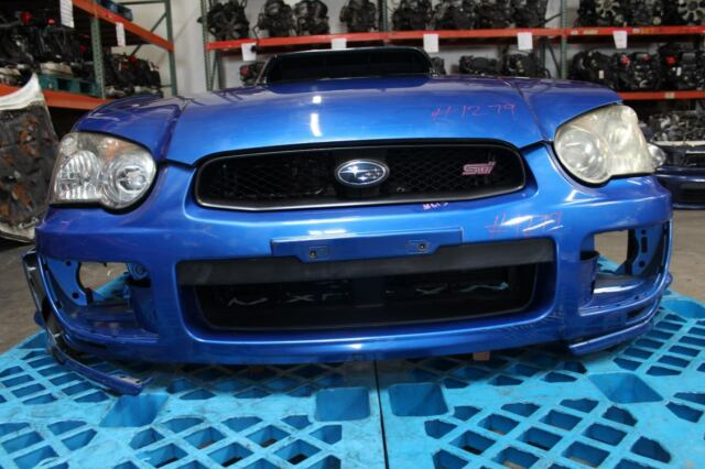 jdm 04 05 subaru wrx sti blobeye front end clip nose cut conversion