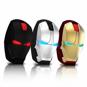 Gaming-Wireless-Mouse-Iron-Man-PC-Mouses-Optical-USB-Rechargeable-Laptop-Mice