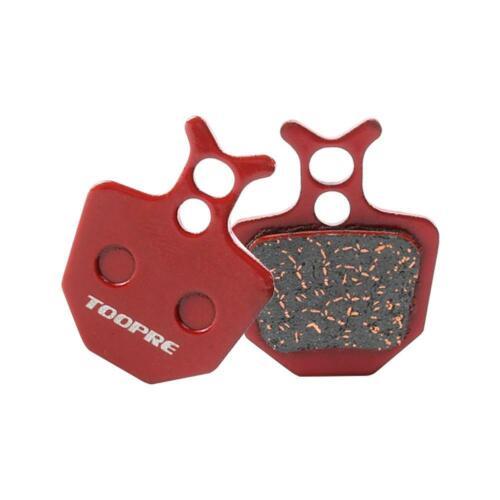 1 Pair MTB Bike Red Copper Fiber Disc Brake Pads for Shimano M446 355 395 BB5