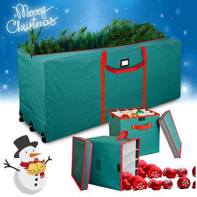 Extra Large Christmas Tree Storage Bag Wheels+Xmas Ball ...