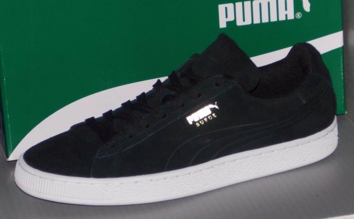 hombre Puma Suede Talla Classic troquelado Q3 en colores Puma Negro Talla Suede 8 6f9031