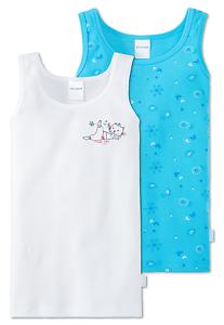41821f65ddb5 Detalles de Schiesser Chica Camiseta Interior Yoga Cat 2 Paquete  PREISVORTEIL104-140 Ropa