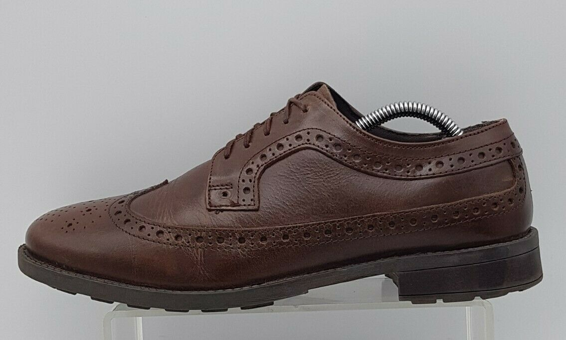 Men's PENGUIN by Mungsing Wear Size 8 UK Brown Leather Brogues Laced In V G U C
