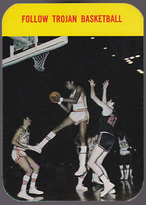 1971-72 UNIVERSITY OF SOUTHERN CALIFORNIA TROJANS BASKETBALL POCKET SCHEDULE