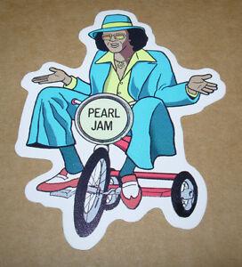 pearl jam die cut sticker johnny guitar logo new 3 x 4