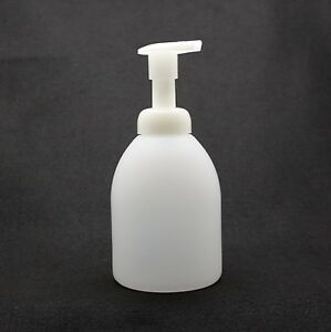 SOAP-FOAM-DISPENSER-20ozTRANSLUCENT-ROUND-SHORT-REFILL-QUALITY-PUMP-FREE-SHIP