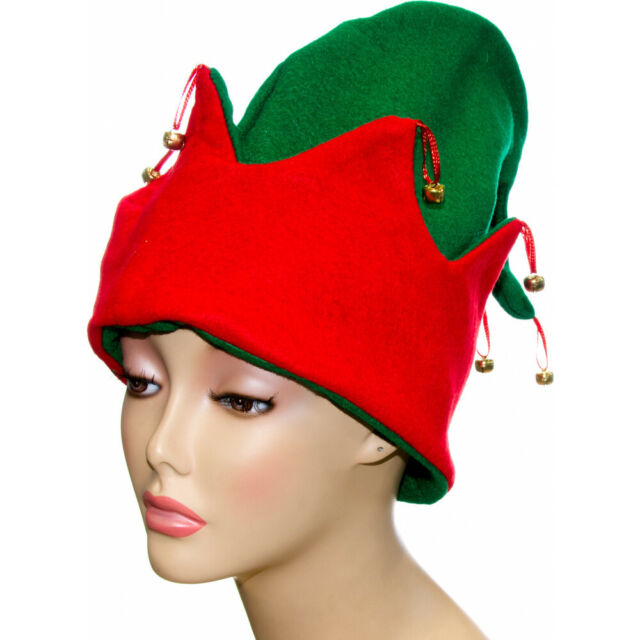 SMURF HAT SMURFETTE GNOME ELF HAT FANCY DRESS PARTY BLUE WHITE RED GREEN YELLOW