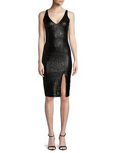 lovertjes Jay schede mouwloze 10 cocktail Prachtige Godfrey zwarte jurk Sequin L45ARc3jq