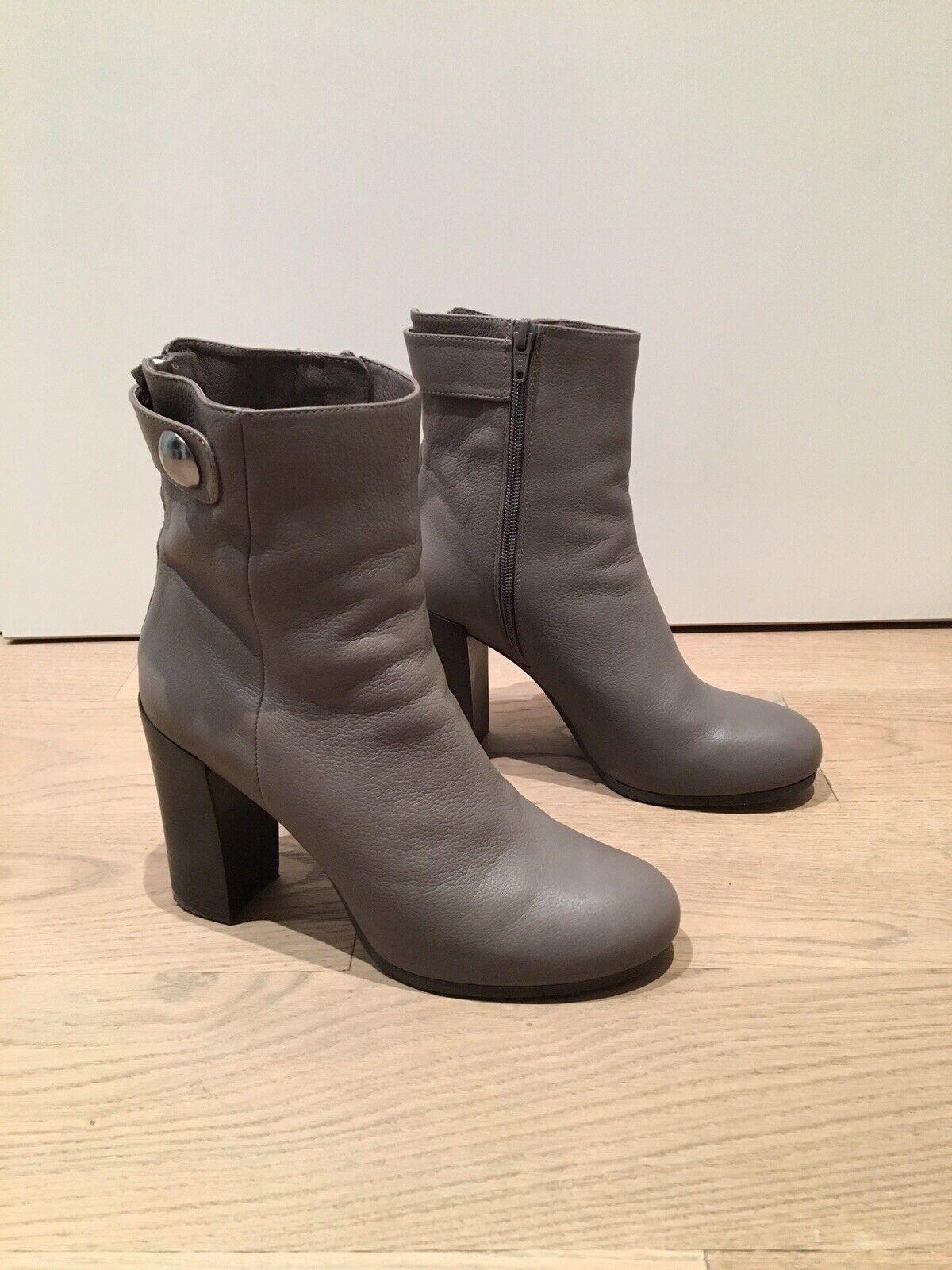 Unisa Stiefelette Stiefel Ankle Stiefel grau Größe 38 Echtleder