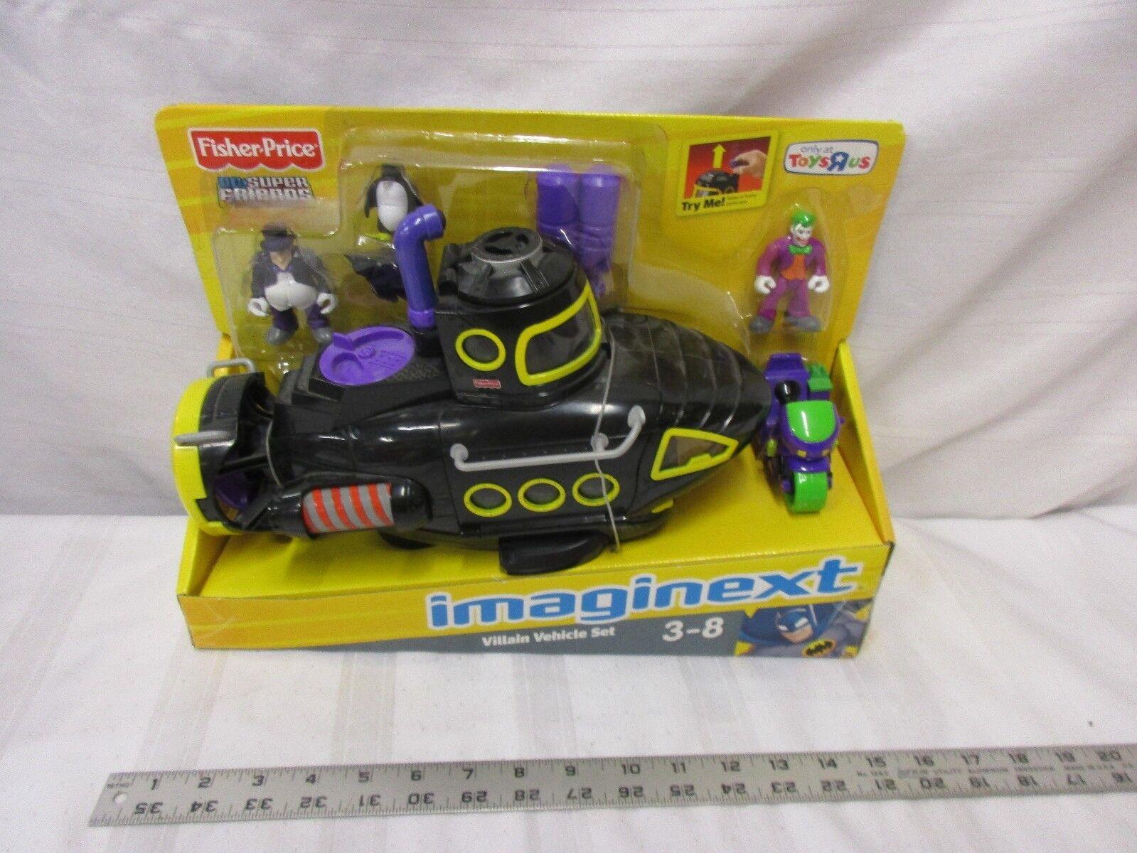 Fisher Price Imaginect Villain fordon Set DC Super vänner Penguin Joker Sub