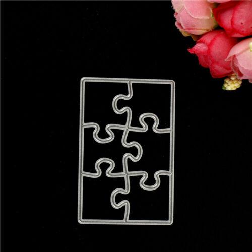 Creative Puzzle Metal Cutting Dies Stencils For Scrapbooking DIY Cards Craft JC