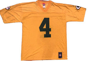 Authentic-VTG-NFL-Reebok-Green-Bay-Packers-Jersey-4-Brett-Favre-sz-adult-Large