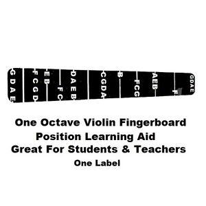 1 Violon Violon Touche Fret Marker étiquette Fingering Chart 4/4-afficher Le Titre D'origine Grand Assortiment
