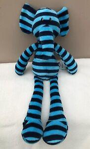 NEW-Jellycat-Zooper-Dooper-Elephant-Soft-Toy-Blue-Stripe-Baby-Comforter-BNWT