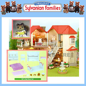 SYLVANIAN-FAMILIES-GIFT-SET-BEECHWOOD-HALL-DOLLHOUSE-FURNITURE-SQUIRREL-5173