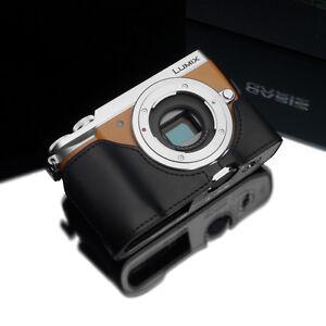 New Leather Half Camera Case Bag Cover base fit Panasonic Lumix DMC GX85 GX80