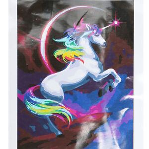 Details about Rainbow Unicorn Paint By Number Kit DIY Digital Oil Painting  Canvas Home Decor