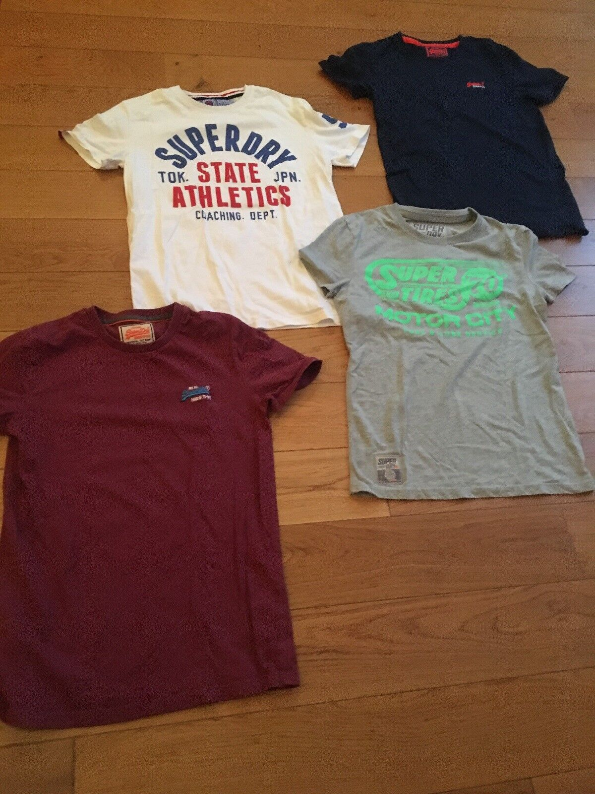 Joblot Of 4 Mens SuperDry And Vintage SuperDry Japan Tshirts Small