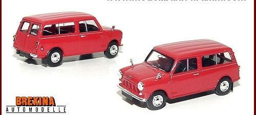 AUSTIN COUNTRYMAN in RED - FULLY ASSEMBLED HO SCALE by BREKINA #15303