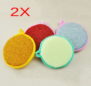 2-x-Kitchen-Cleaning-Dish-Wash-Scouring-Pad-Sponge-Scouring-Sponge