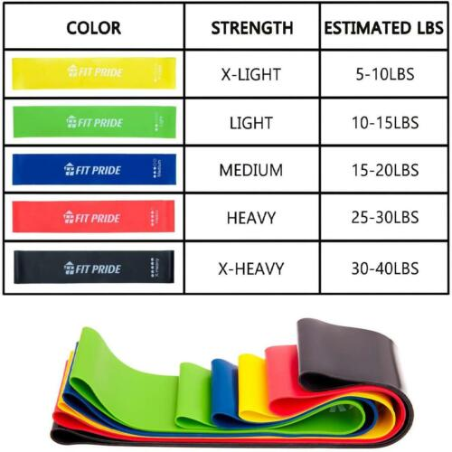 Details about  /Fit Pride Resistance Bands Workout bands Exercise Bands with 5  Tension Levels