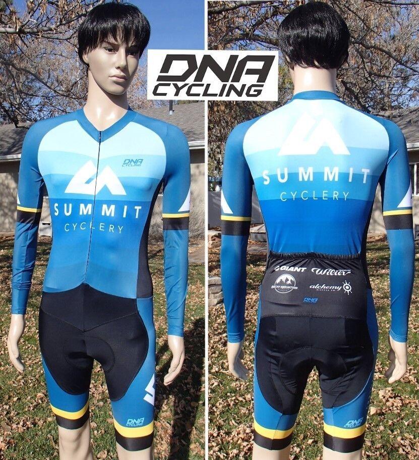 New nwot italian DNA cycling skinsuit long sleeve summit cyclery utah men medium