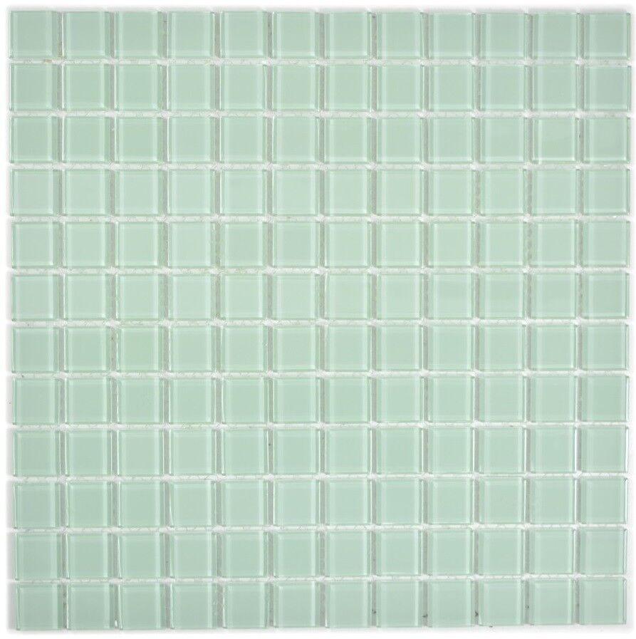 Mosaïque carreau translucide crystal vert clair cuisine 63-0107_f   10 plaques