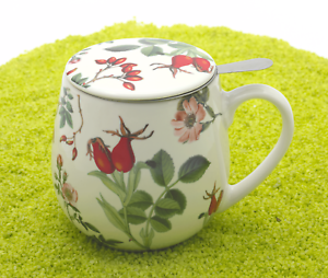 Koenitz-Porzellan-Tee-Kuschelbecher-mit-Deckel-amp-Sieb-Hagebutte-420ml