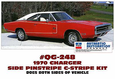 PINSTRIPE DECAL KIT RARE R//T SIDE C-STRIPE QG-248 1970 DODGE CHARGER