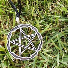 Magic Cross Pentacle Pentagram 5 point star with Cotton Necklace # 1033