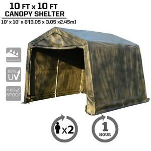 Outstanding Details About 10X10X8Ft Canopy Carport Tent Auto Shelter Car Storage Shed Steel Outdoor Awning Interior Design Ideas Skatsoteloinfo