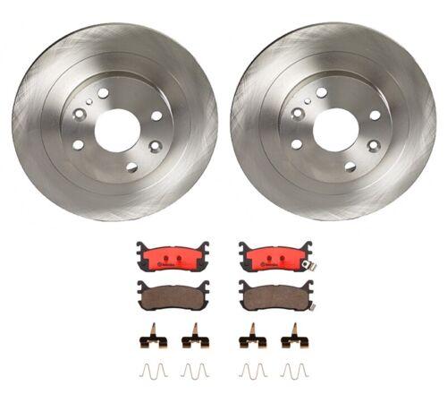 Brembo Rear Brake Kit Ceramic Pads and Disc Rotors Solid 250mm For Mazda Miata