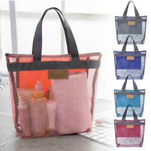 Travel-Large-Cosmetic-Makeup-Bag-Mesh-Toiletry-Tote-Wash-Organizer-Portable-Bags