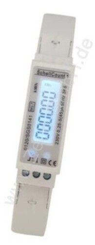 MID M19 GEEICHT digitaler LCD Wechselstromzähler 45A 1TE mit S0 für Hutschiene